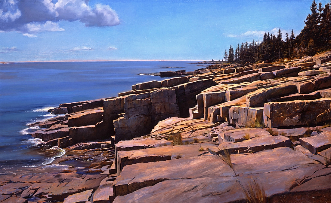 Schoodic Peninsula, Maine, 2008, oil on linen, 27 x 45 inches