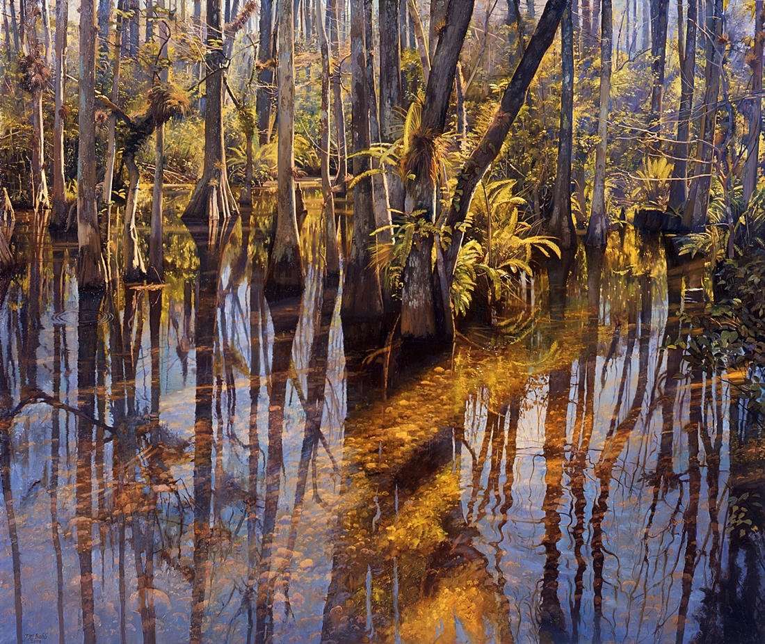 10 Crystalline, Big Cypress, Florida,  2005, oil on linen,  40 x 48 inches