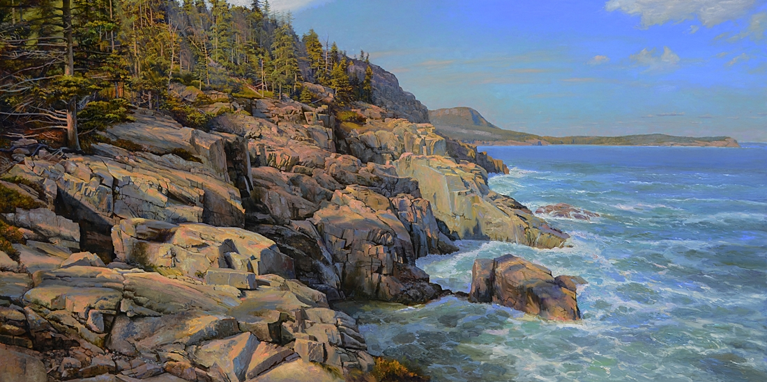 12 The Maine Coast, Mt. Desert Island, Maine, 2011, oil on linen, 42 x 84 inches