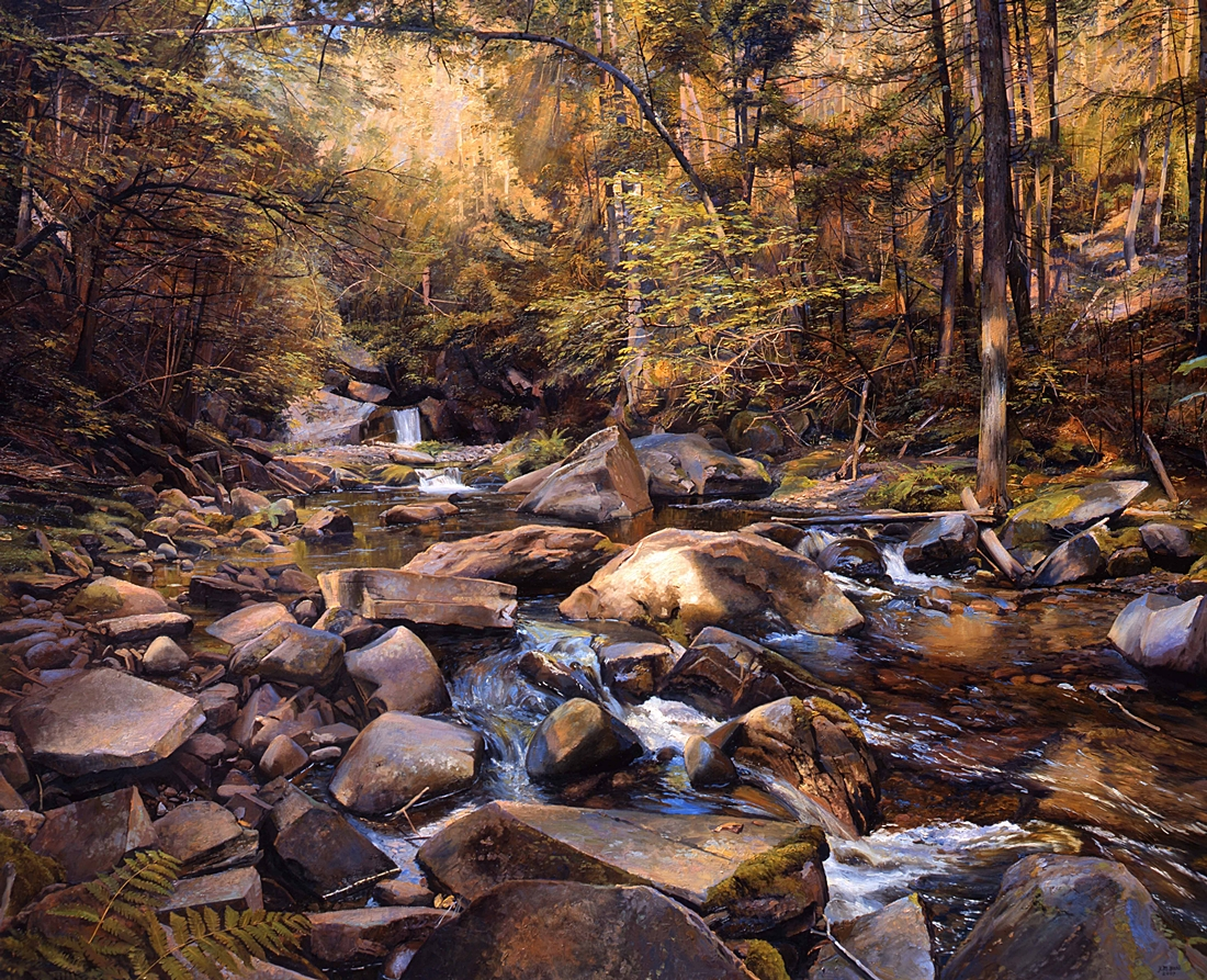 3 Gulf Hagas Brook, Maine, 2009, oil on linen,  58 x 72 inches