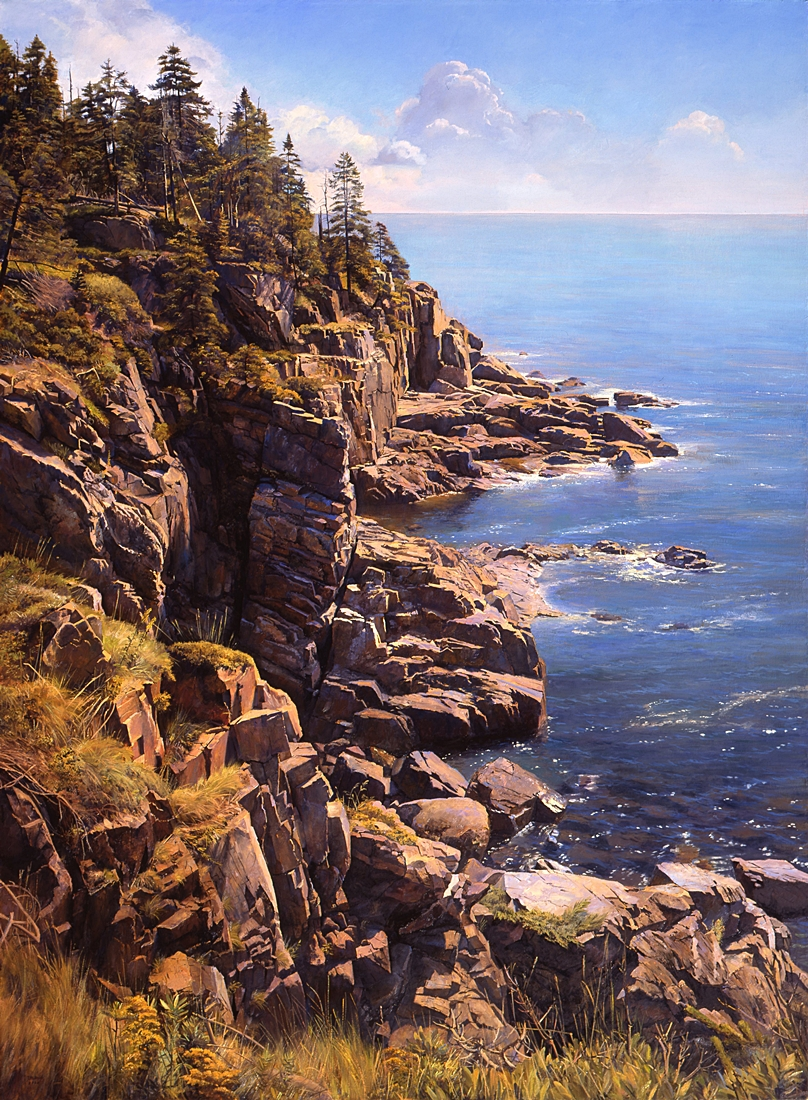 5 Otter Cliffs, Mount Desert, 2008, oil on linen, 72 x 52 inches