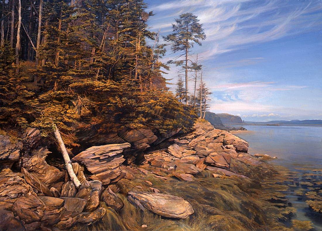 6 Eggemoggin Reach, 2002, oil on linen, 60 x 84 inches