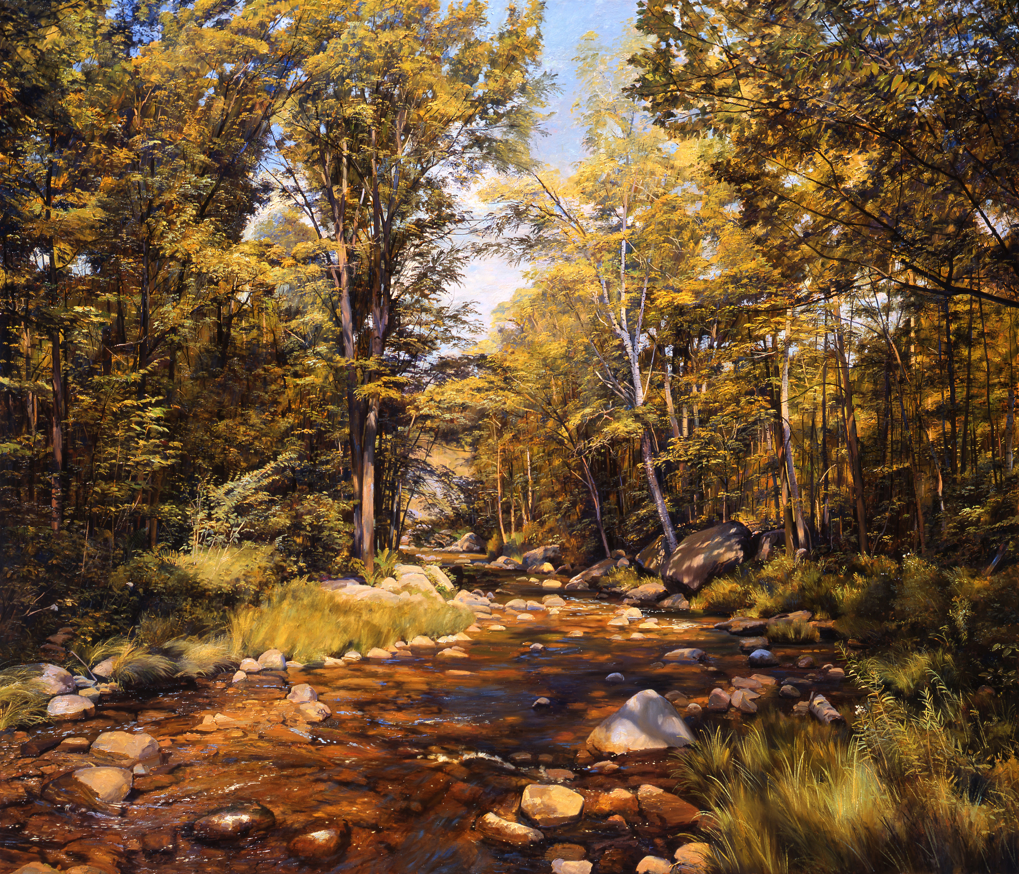 The Pleasant River, 2009, oil on linen, 46 x 54 inches